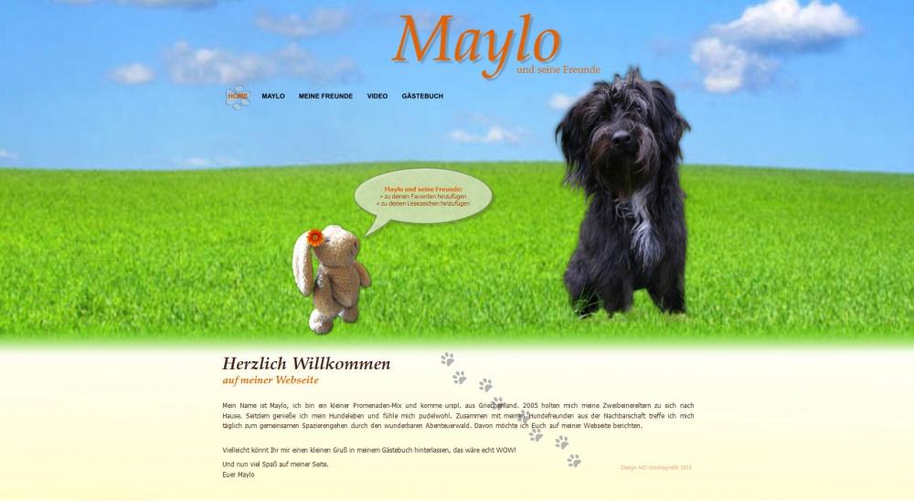 Bildbeispiel einer von mir erstellten Tierwebseite