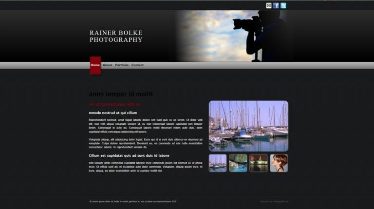 Bildbeispiel einer von mir erstellten Fotografenwebseite
