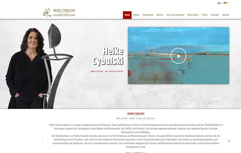 Individuelle Künstlerwebseite, Wordpress, Galerie- und Videoeinbindungen