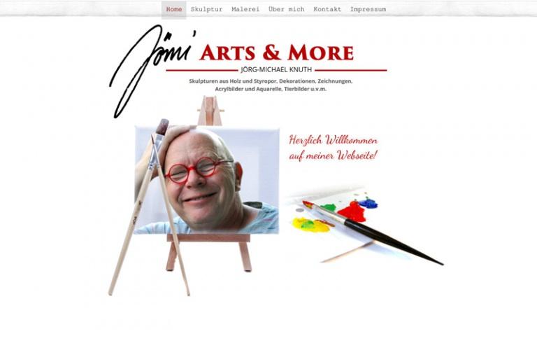 Individuelle Künstlerwebseite damals mit Magix Webdesigner erstellt